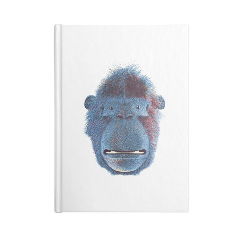 Mac Portrait Accessories Lined Journal Notebook by The Mega Plush Shop