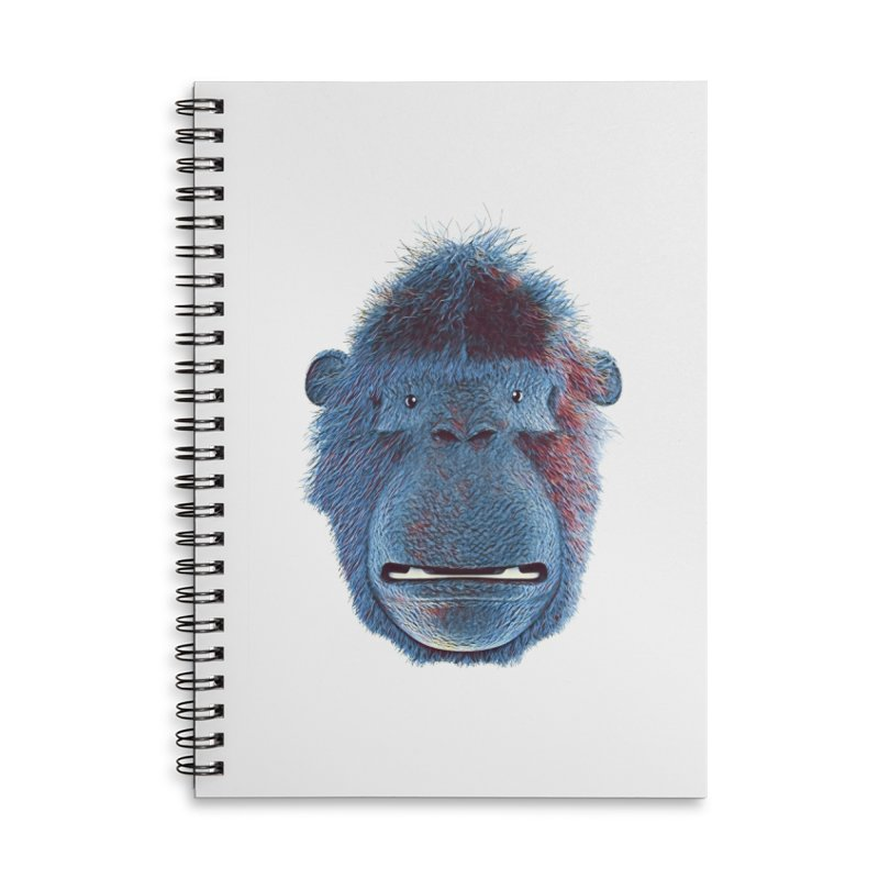 Mac Portrait Accessories Lined Spiral Notebook by The Mega Plush Shop