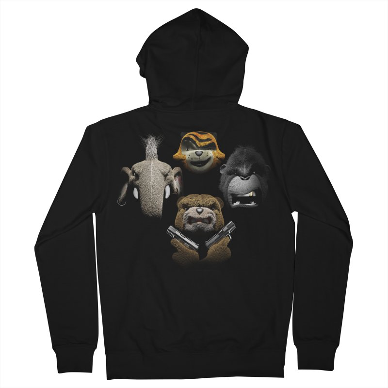Bohemian Vigilante Men's Zip-Up Hoody by The Mega Plush Shop