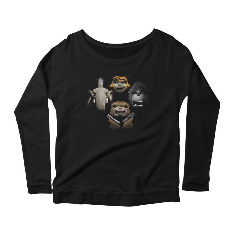 Bohemian Vigilante Women's Scoop Neck Longsleeve T-Shirt by The Mega Plush Shop
