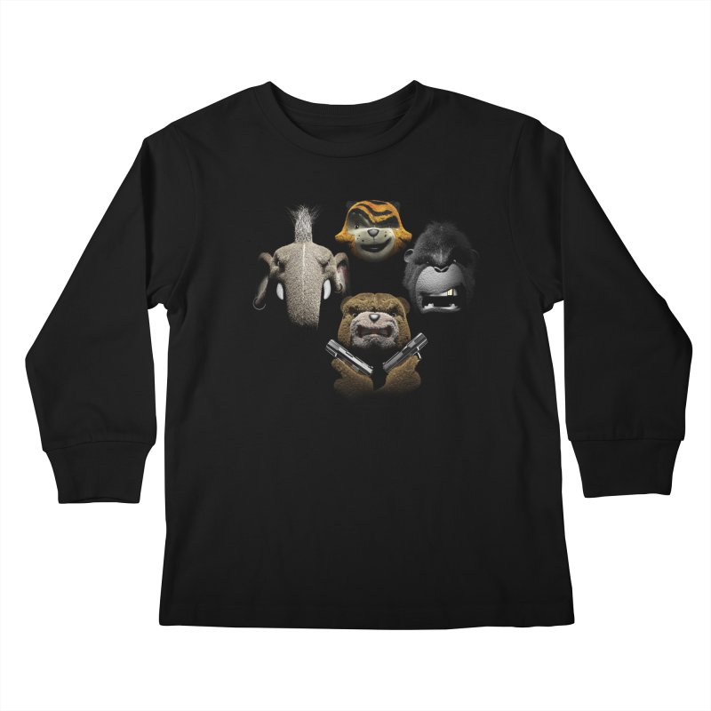 Bohemian Vigilante Kids Longsleeve T-Shirt by The Mega Plush Shop