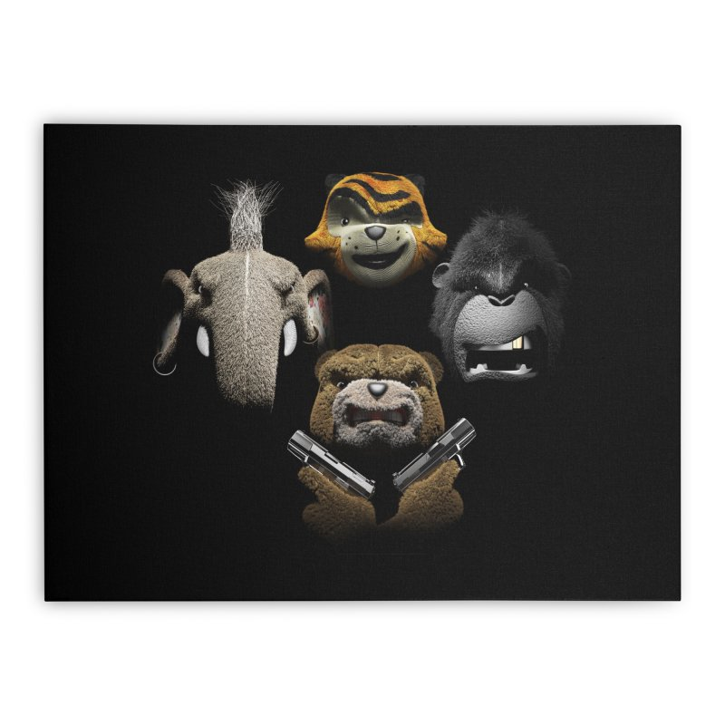 Bohemian Vigilante Home Stretched Canvas by The Mega Plush Shop