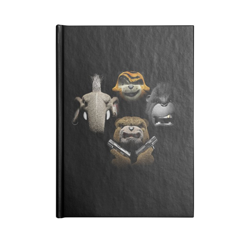 Bohemian Vigilante Accessories Lined Journal Notebook by The Mega Plush Shop