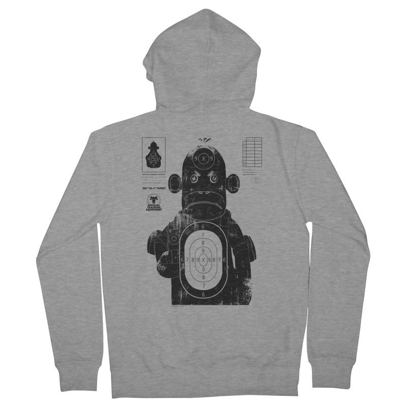 SOC target practice Men's French Terry Zip-Up Hoody by The Mega Plush Shop