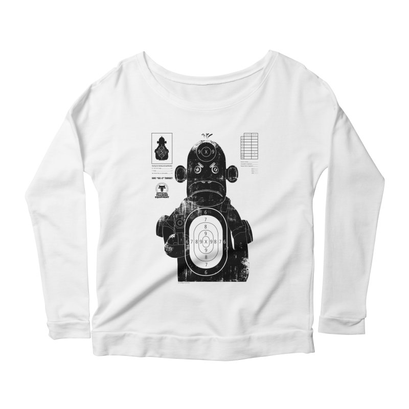 SOC target practice Women's Scoop Neck Longsleeve T-Shirt by The Mega Plush Shop