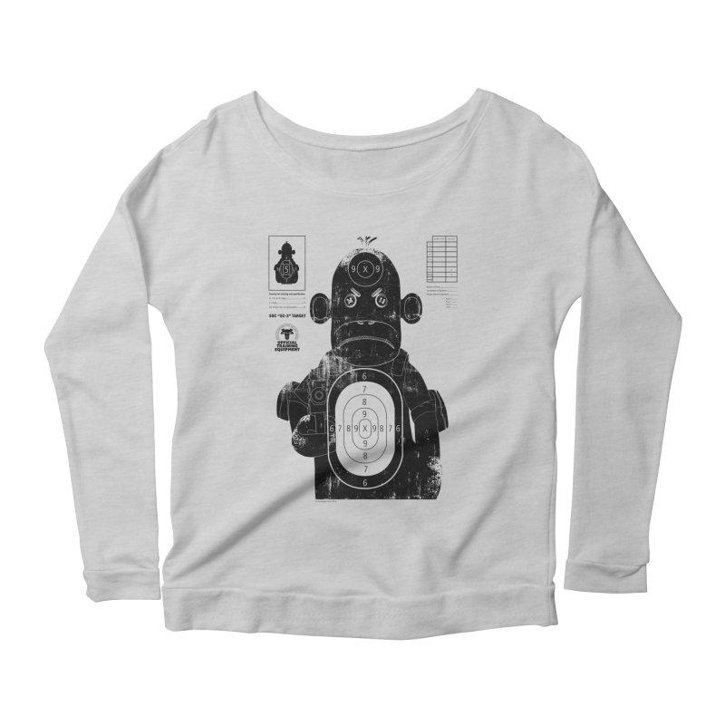 SOC target practice Women's Scoop Neck Longsleeve T-Shirt by The Mega Plush Shop