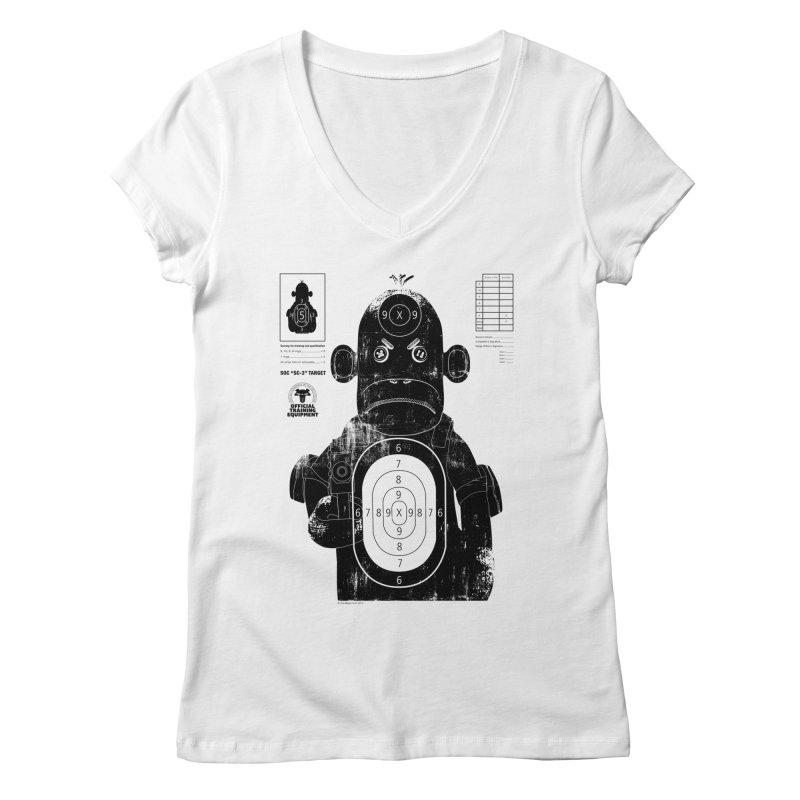 SOC target practice Women's Regular V-Neck by The Mega Plush Shop