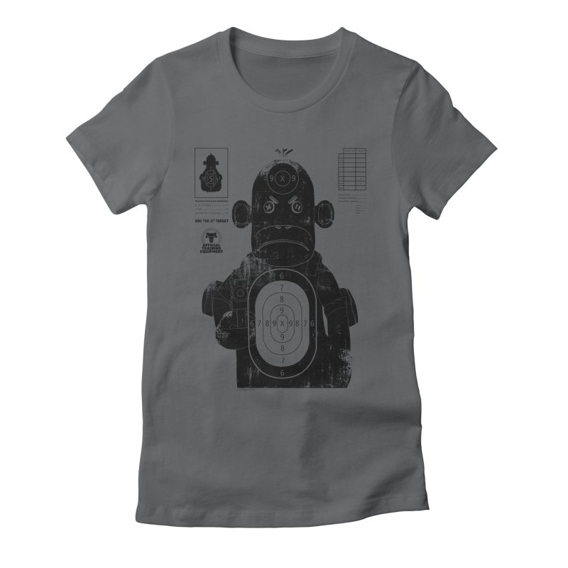 SOC target practice Women's Fitted T-Shirt by The Mega Plush Shop