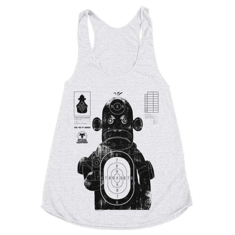 SOC target practice Women's Racerback Triblend Tank by The Mega Plush Shop