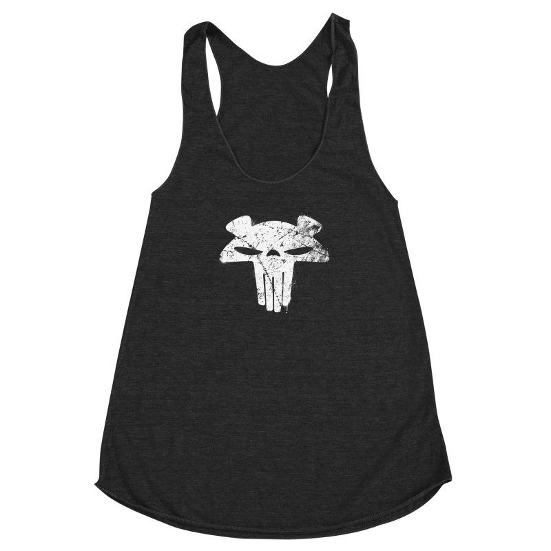 The Mega Plush - Mega Bear Logo Spray Women's Racerback Triblend Tank by The Mega Plush Shop