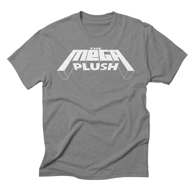 The Mega Plush - Text Logo Men's Triblend T-Shirt by The Mega Plush Shop