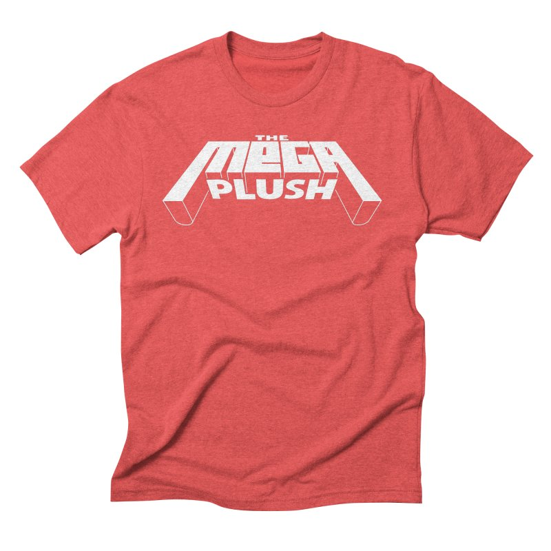 The Mega Plush - Text Logo Men's Triblend T-Shirt by The Mega Plush Shop
