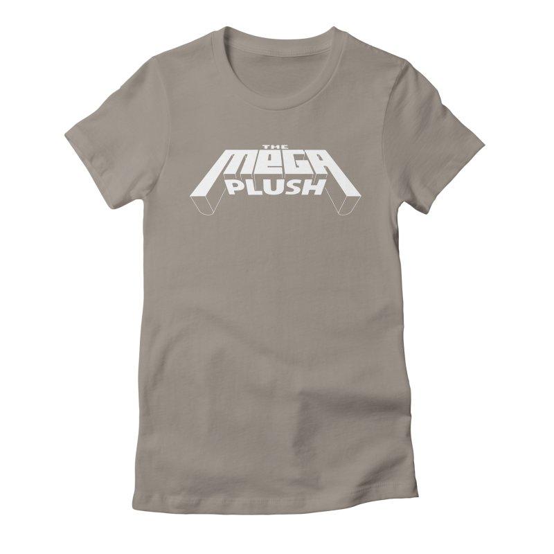 The Mega Plush - Text Logo Women's Fitted T-Shirt by The Mega Plush Shop