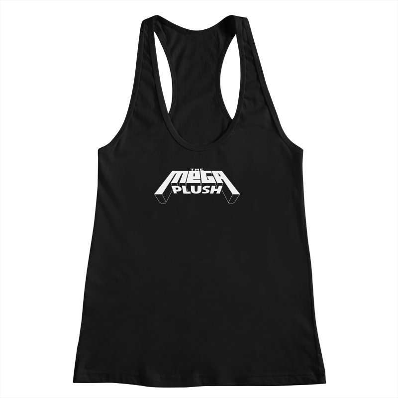 The Mega Plush - Text Logo Women's Racerback Tank by The Mega Plush Shop