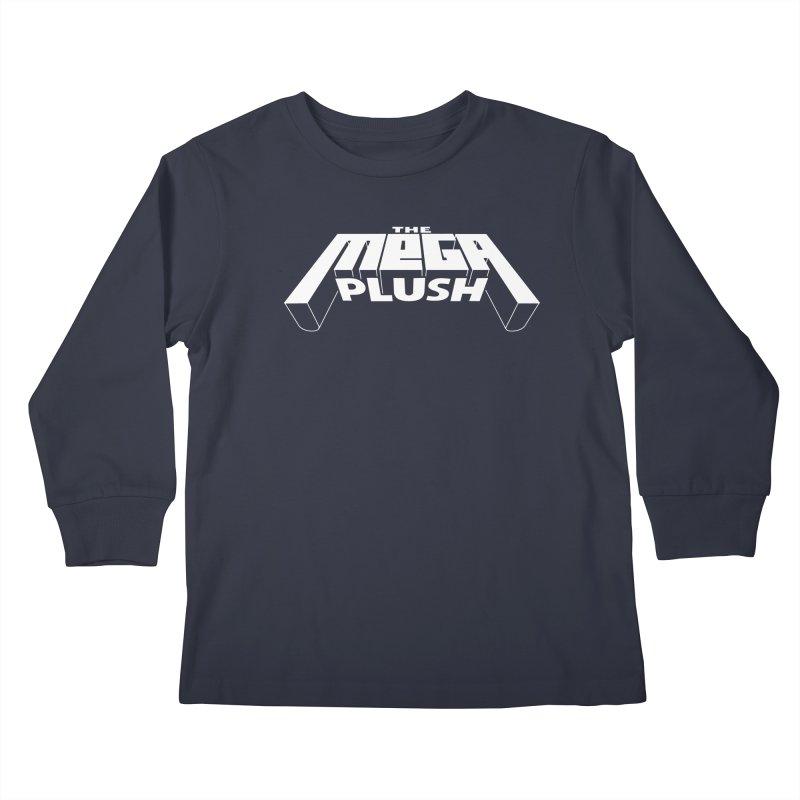 The Mega Plush - Text Logo Kids Longsleeve T-Shirt by The Mega Plush Shop