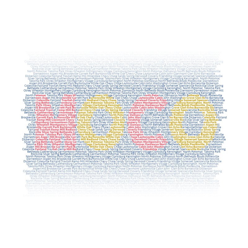 All The Towns in MoCo Accessories Face Mask by The MoCo Shop