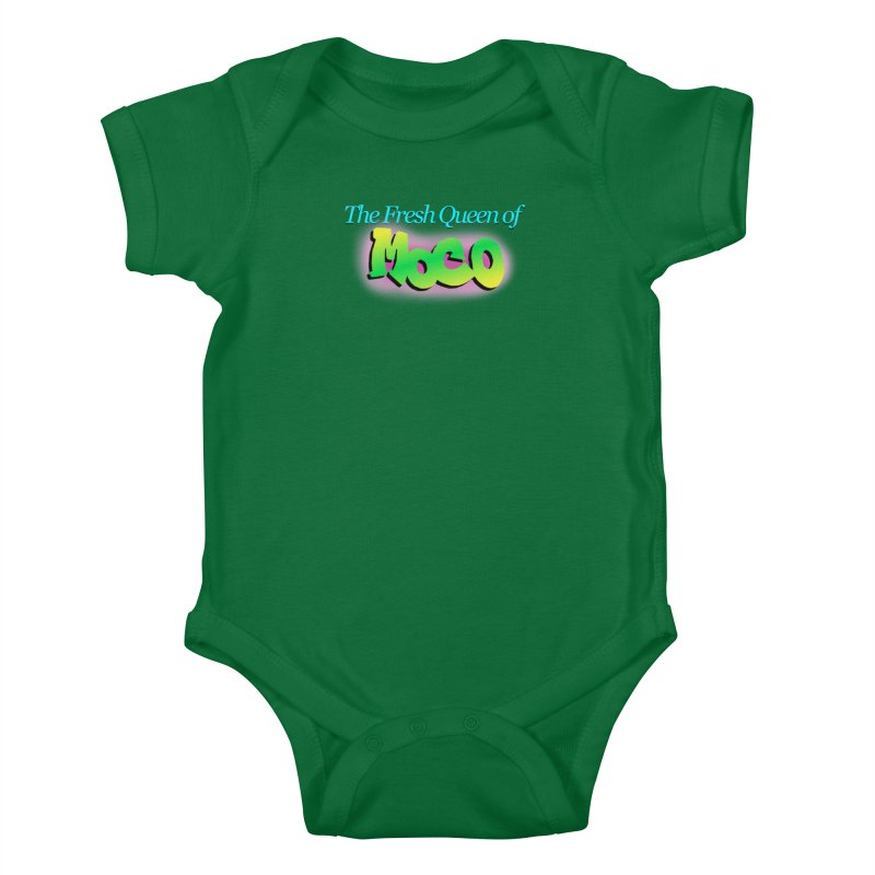 Fresh Queen of MoCo Kids Baby Bodysuit by The MoCo Shop
