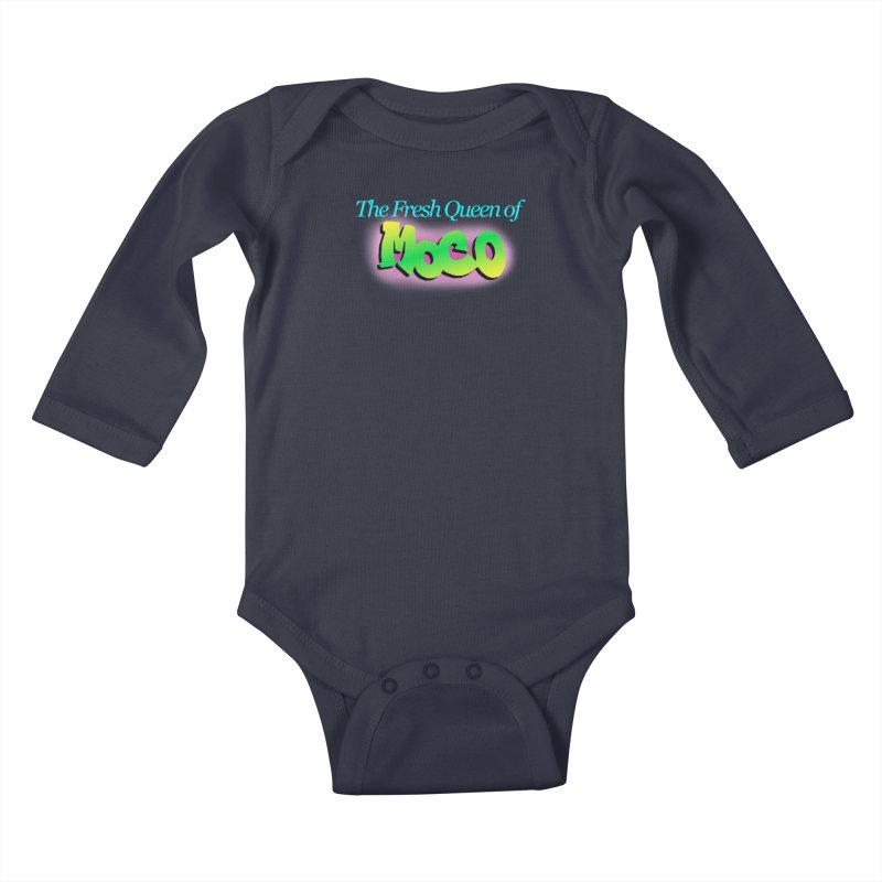 Fresh Queen of MoCo Kids Baby Longsleeve Bodysuit by The MoCo Shop