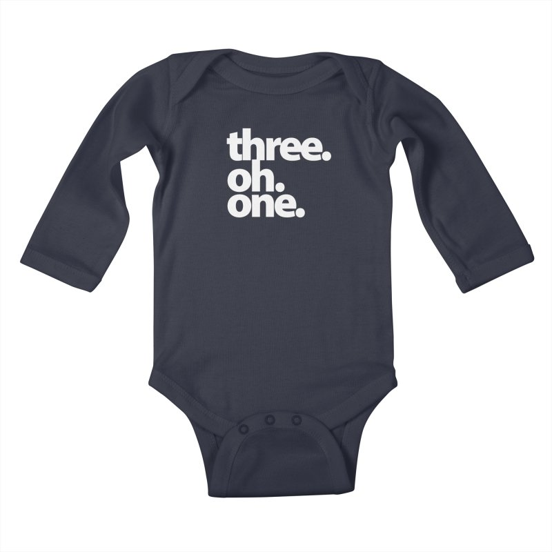 Three. Oh. One. Kids Baby Longsleeve Bodysuit by The MoCo Shop