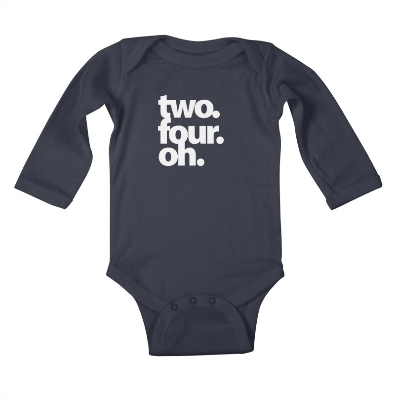 two. four. oh. Kids Baby Longsleeve Bodysuit by The MoCo Shop