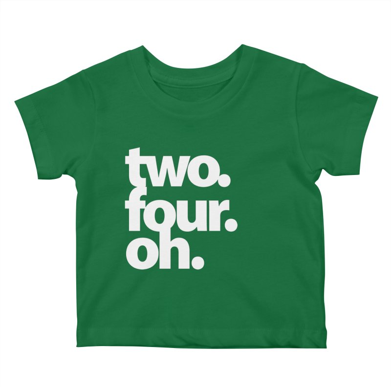 two. four. oh. Kids Baby T-Shirt by The MoCo Shop