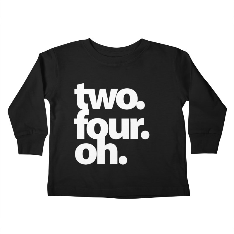 two. four. oh. Kids Toddler Longsleeve T-Shirt by The MoCo Shop