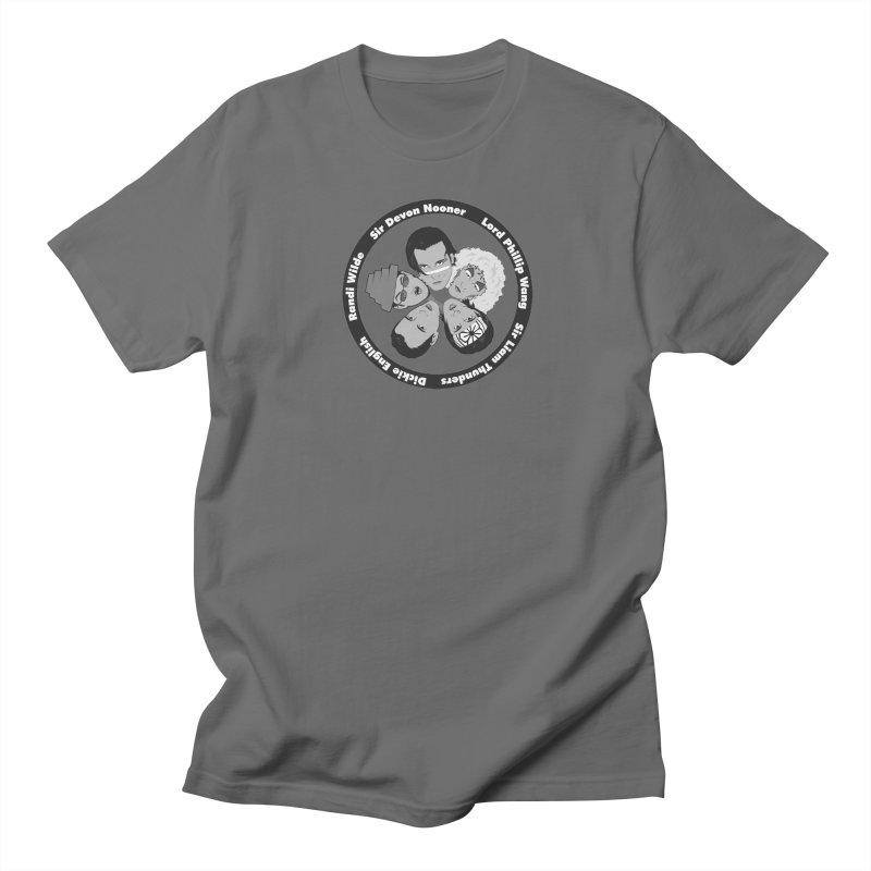 Band Logo: Men's Tees in Men's Regular T-Shirt Asphalt by The Molly Ringwalds Merch Store