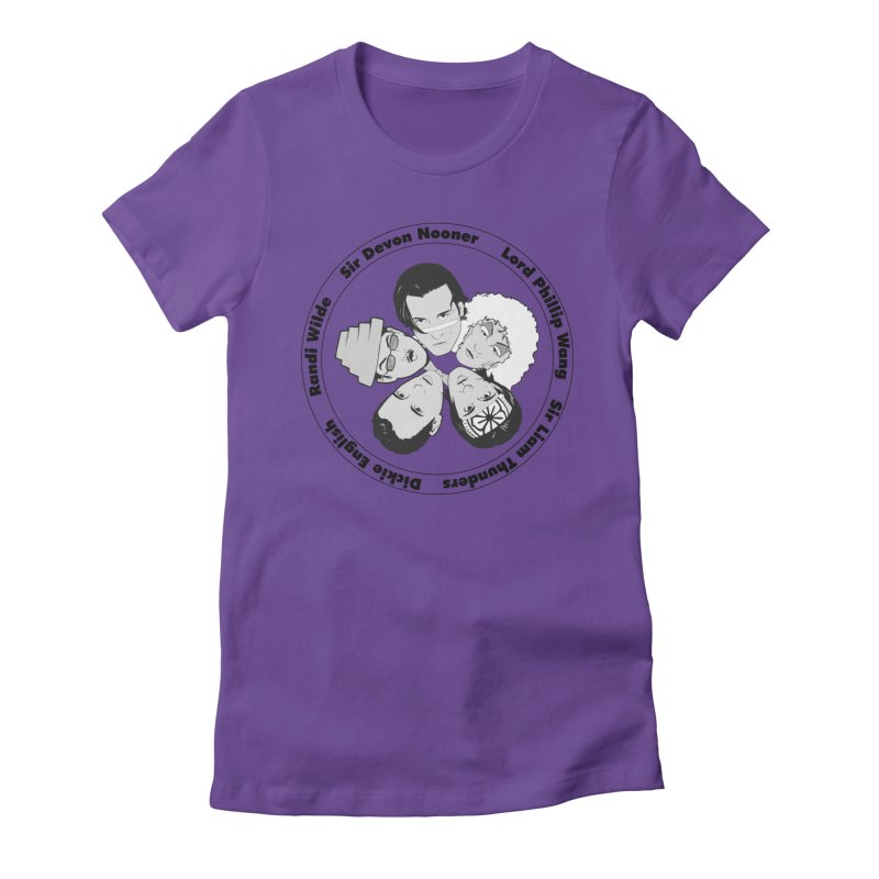 Band Logo: Women's Tees in Women's Fitted T-Shirt Purple by The Molly Ringwalds Merch Store