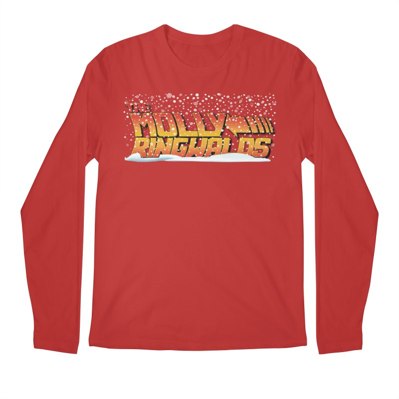 Holiday Snow: Adult Tees in Men's Regular Longsleeve T-Shirt Red by The Molly Ringwalds Merch Store