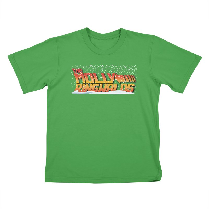 Holiday Snow: Kids Tees in Kids T-Shirt Green by The Molly Ringwalds Merch Store