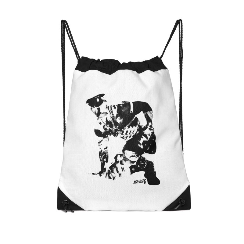 Maldito Accessories Drawstring Bag Bag by Myno's Artist Shop