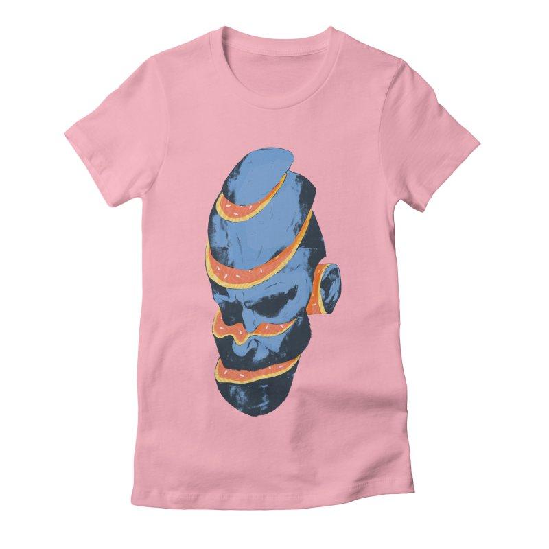 Juan Women's Fitted T-Shirt by Myno's Artist Shop