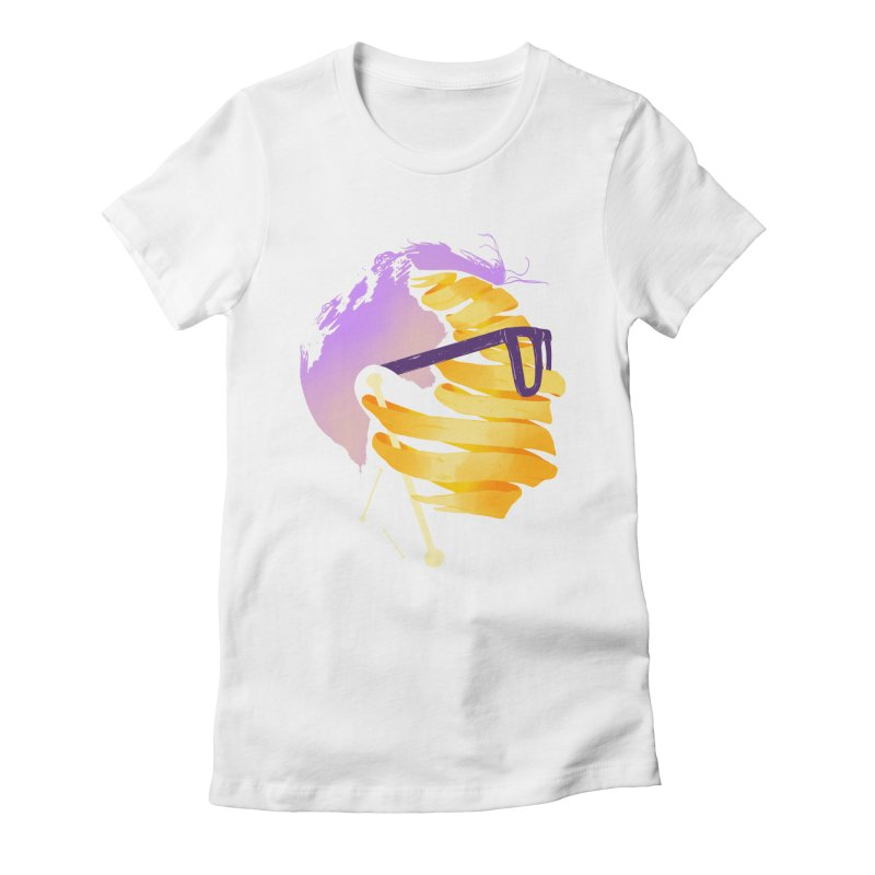 Justin Women's Fitted T-Shirt by Myno's Artist Shop