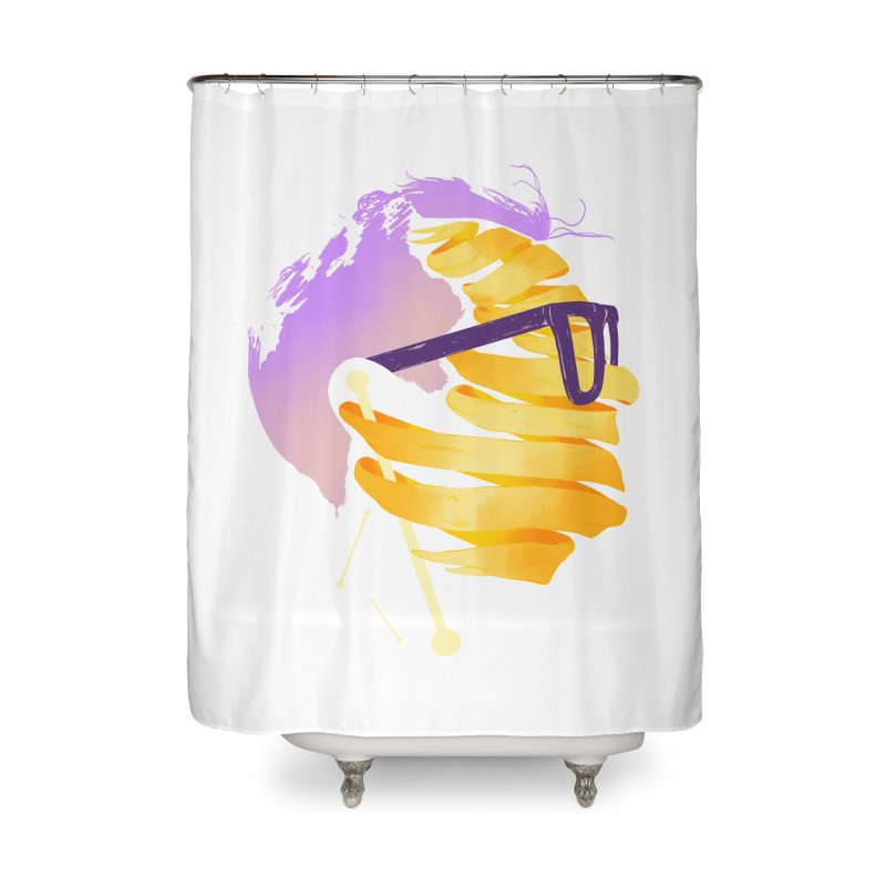 Justin Home Shower Curtain by Myno's Artist Shop