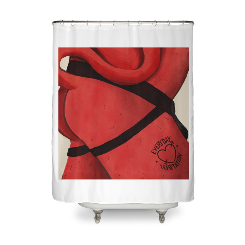 Temptation Home Shower Curtain by Myno's Artist Shop