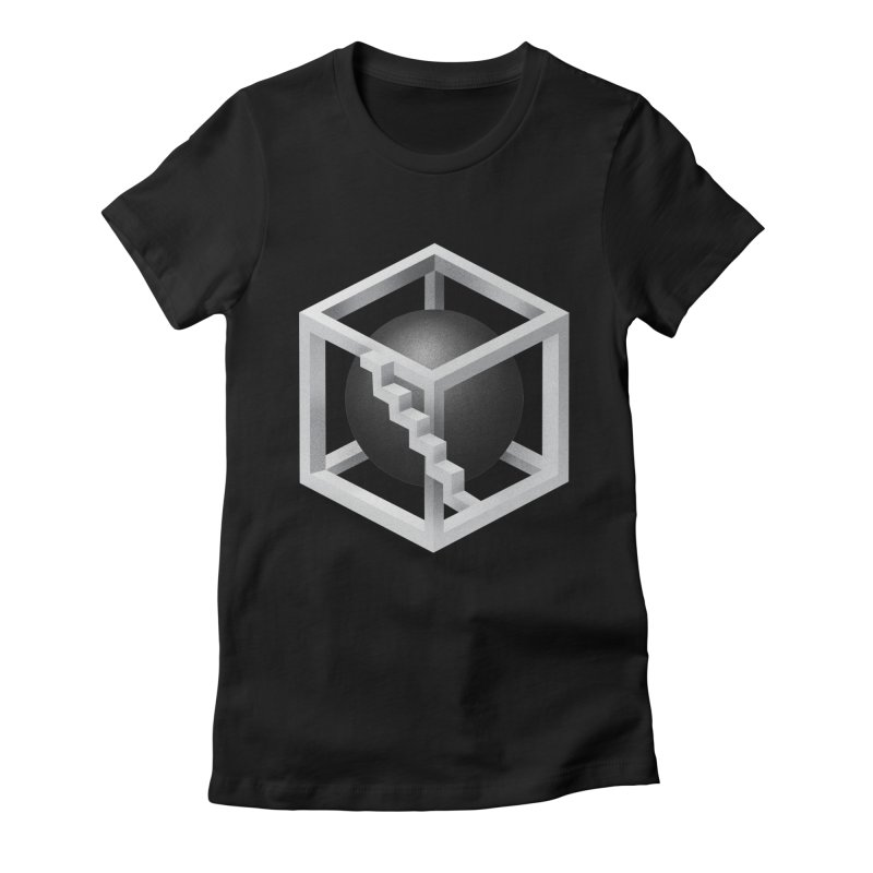 First level Women's Fitted T-Shirt by Myno's Artist Shop