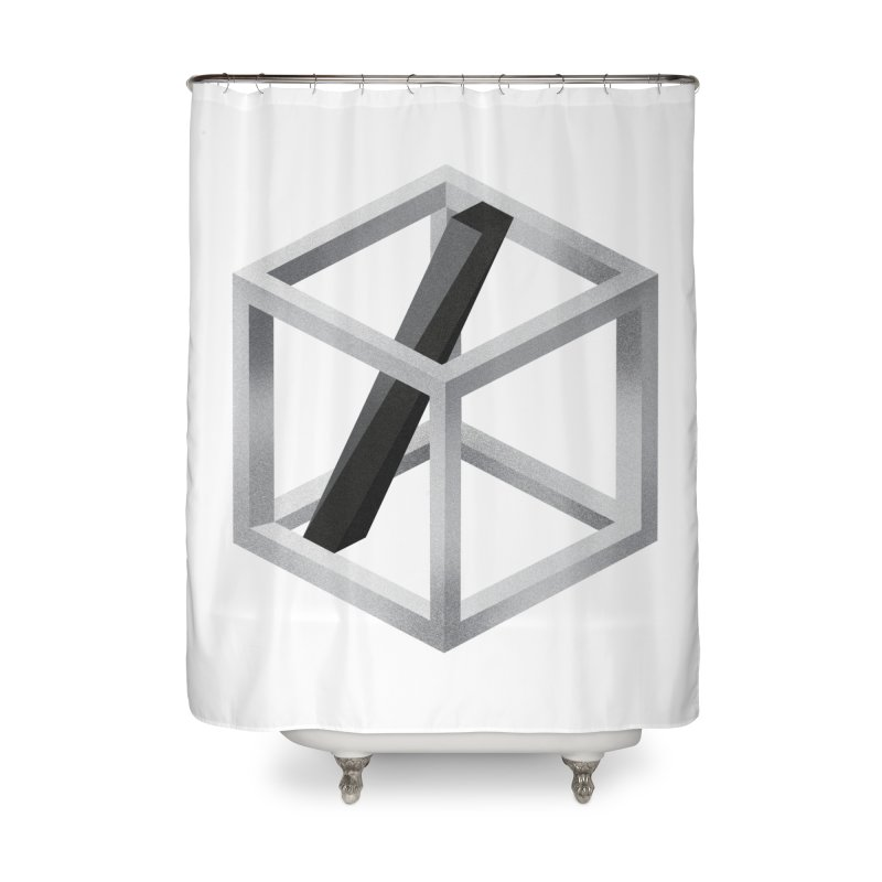 Slide Home Shower Curtain by Myno's Artist Shop