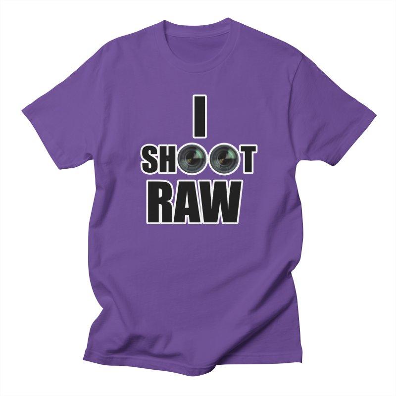 I SHOOT RAW Men's Regular T-Shirt by thenewcamera's Artist Shop