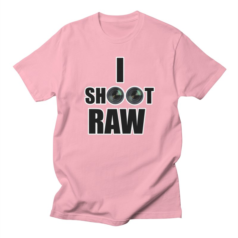 I SHOOT RAW Men's Regular T-Shirt by thenewcamera's Artist Shop