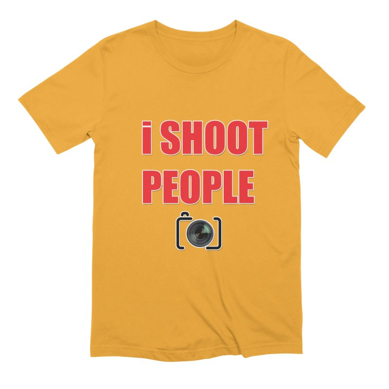 I Shoot People - Photographer's T Shirt Men's Extra Soft T-Shirt by thenewcamera's Artist Shop