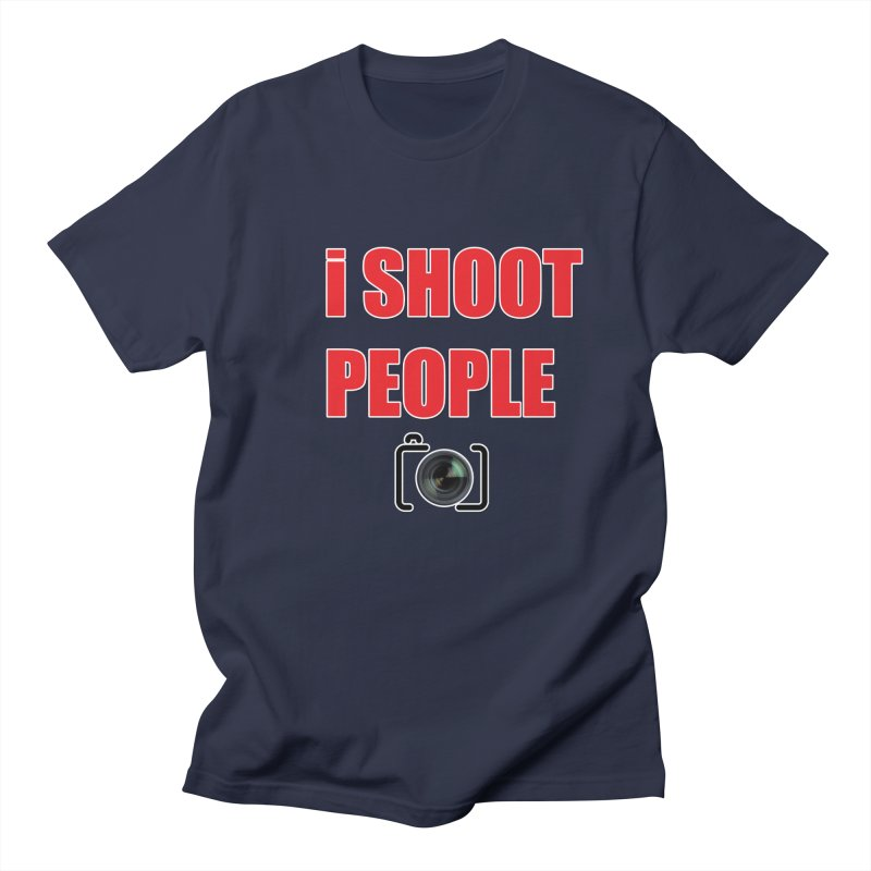 I Shoot People - Photographer's T Shirt Men's Regular T-Shirt by thenewcamera's Artist Shop