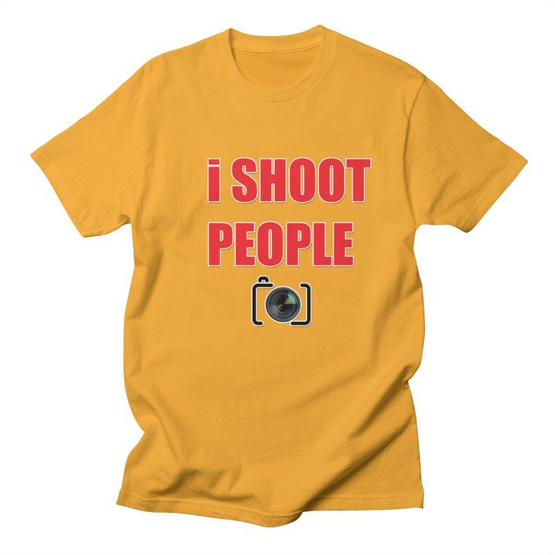 I Shoot People - Photographer's T Shirt Men's Regular T-Shirt by thenewcamera's Artist Shop