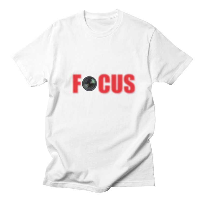 Focus - Photographer's T Shirt Men's Regular T-Shirt by thenewcamera's Artist Shop