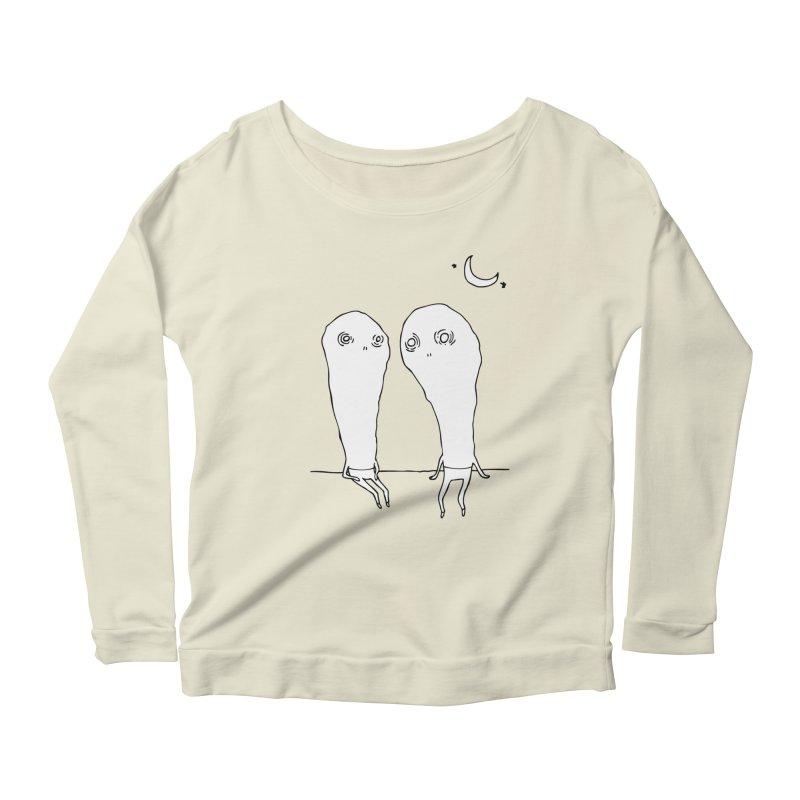 Cuties Women's Longsleeve Scoopneck  by The Normal Shirt Shop