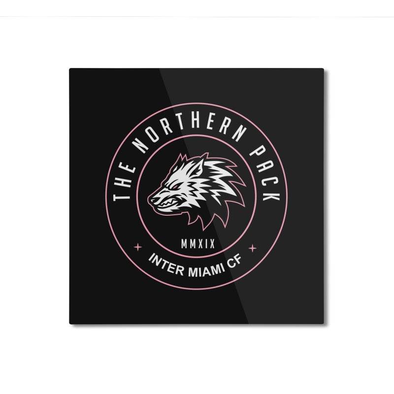 Logo with White Letters Home Mounted Aluminum Print by THE NORTHERN PACK CF's Shop