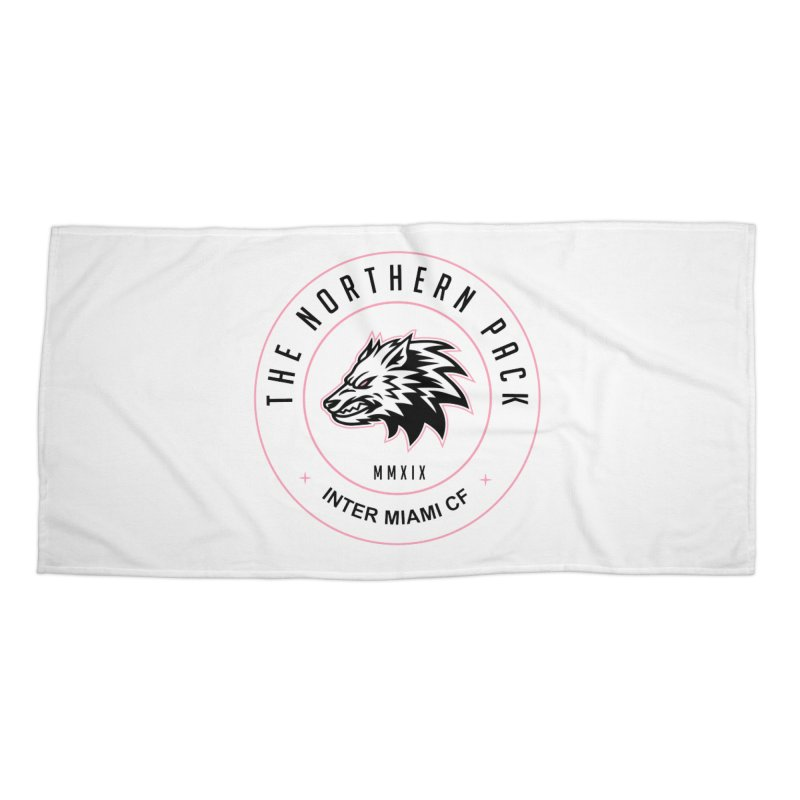 Logo with Black Letters Accessories Beach Towel by THE NORTHERN PACK CF's Shop