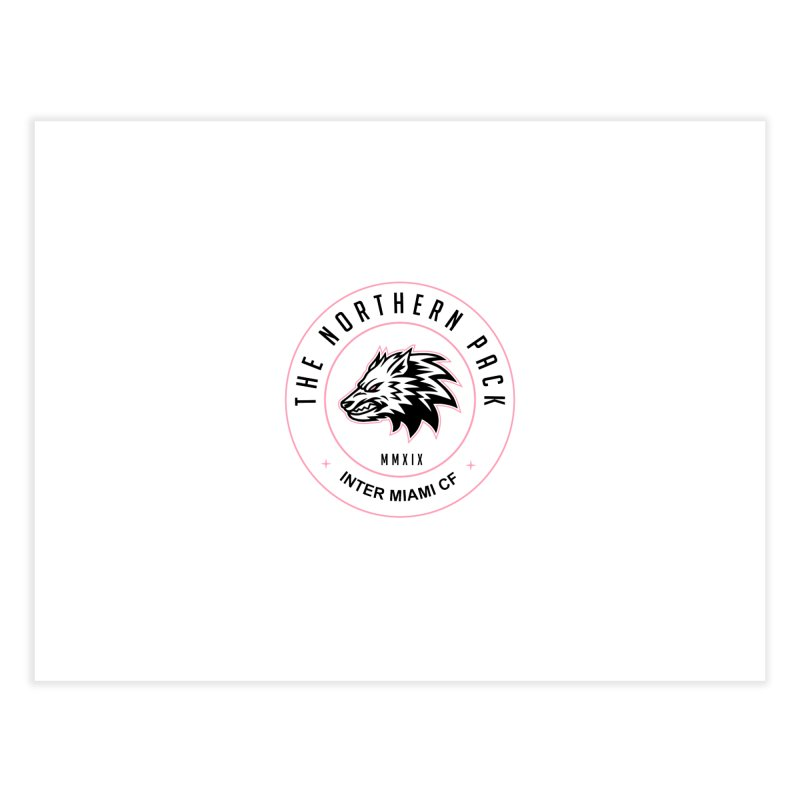 Logo with Black Letters Home Fine Art Print by THE NORTHERN PACK CF's Shop