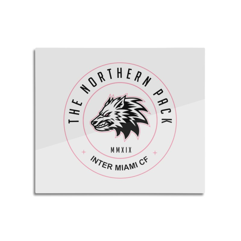 Logo with Black Letters Home Mounted Aluminum Print by THE NORTHERN PACK CF's Shop