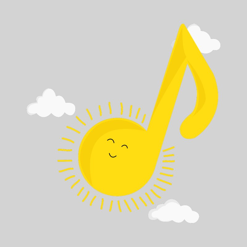 Music brightens my day by theo86's Artist Shop