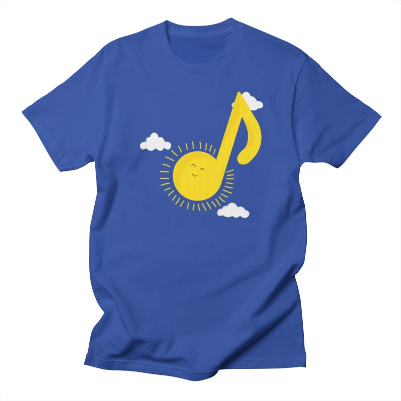Music brightens my day Men's T-Shirt by theo86's Artist Shop